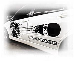 Изготовление виниловых наклеек на автомобили