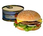 консервированные чизбургеры