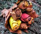 букеты из осенних листьев