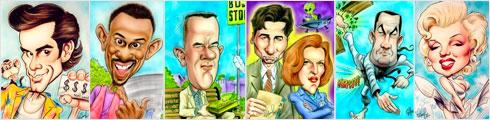 Голивудские знаменитости в карикатурах