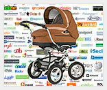 Бизнес на размещения рекламы на колясках для детей