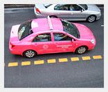 Розовое женское такси из Мексики