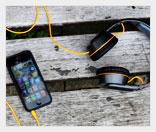 Мобильные наушники с солнечными панелями