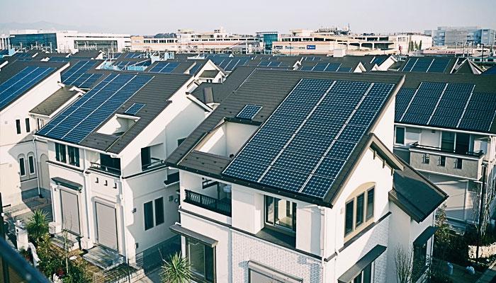 Японский город на солнечных батареях