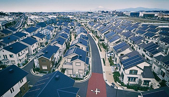 город на солнечной энергии