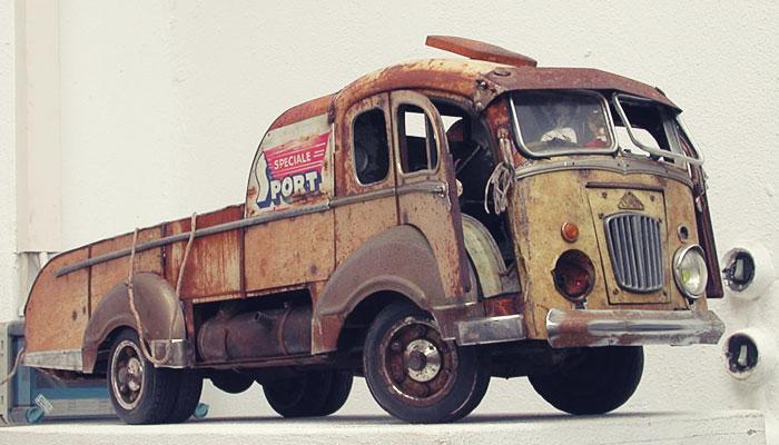 пример ржавой модели авто